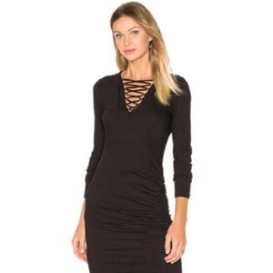 Pam & Gela Lace Up Bodycon Dress Small NWT